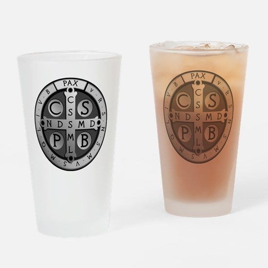 BenedictMedal_ShirtFront Drinking Glass