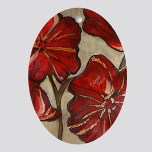 Poppy Art I Oval Ornament