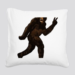 Big Foot Peace 925537 Square Canvas Pillow