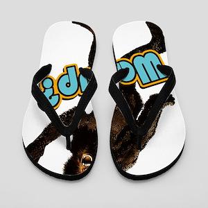 Big Foot Peace Wassup2 Flip Flops