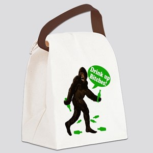 Big Foot Drink Up Bitches Green 7 Canvas Lunch Bag