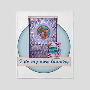 CP-tee-fishwash-front Throw Blanket