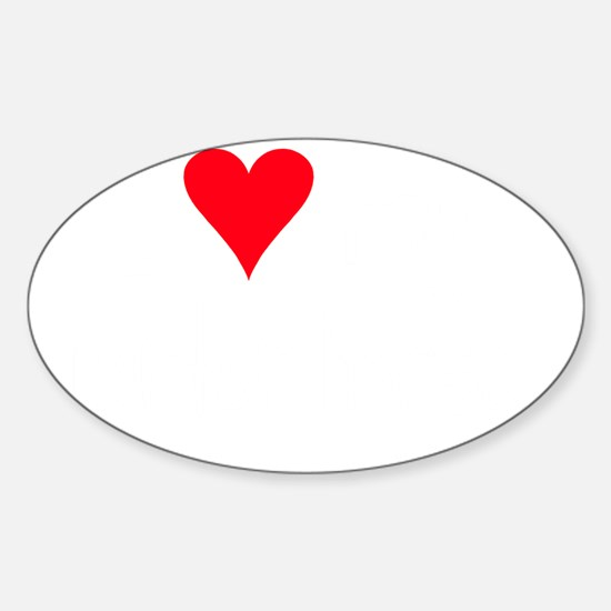 iheartamquarterhorse_black Sticker (Oval)
