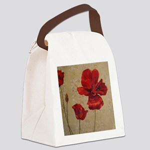 Poppy Art III Canvas Lunch Bag