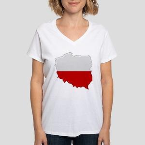 """Pixel Poland"" Women's V-Neck T-Shirt"