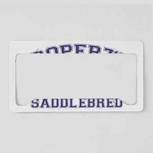 saddlebredproperty License Plate Holder