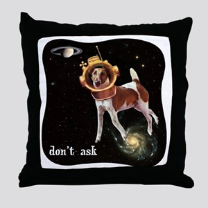 CP-tee-spacedog-front Throw Pillow