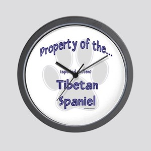 Tibetan Spaniel Property Wall Clock