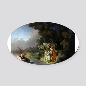 The abduction of Europa - Rembrandt - c1632 Oval C