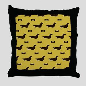 doxieslongpillowcp Throw Pillow