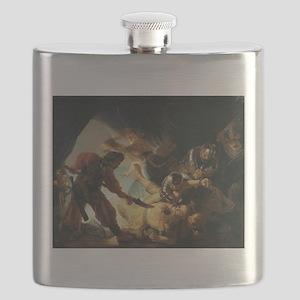 The Blinding of Samson - Rembrandt - c1636 Flask