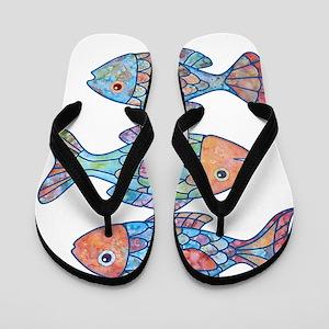 fishes 3 Flip Flops