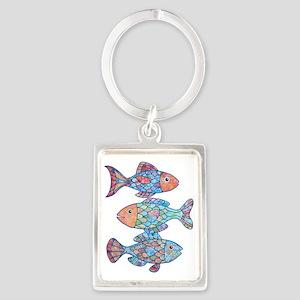 fishes 3 Portrait Keychain