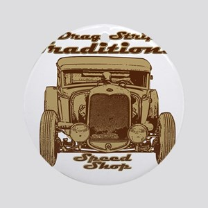 traditions speed shop Round Ornament