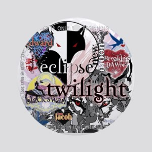 new twilight saga collage by twibab Round Ornament