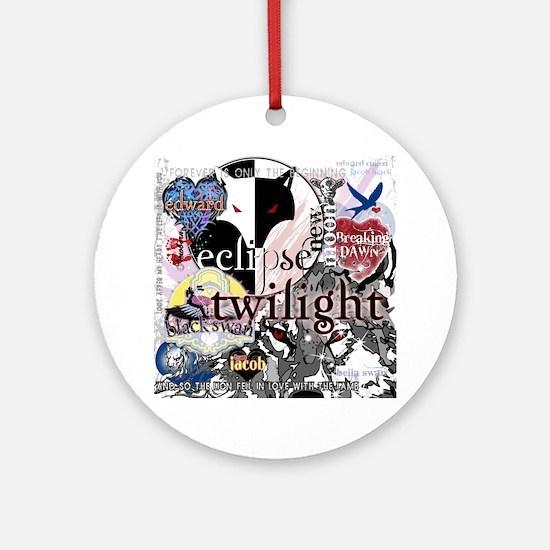 new twilight saga collage by twibab Round Ornament