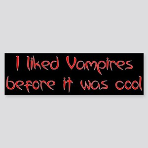 """Like Vampires"" Bumper Sticker"