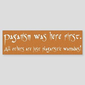"""Paganism Here First"" Bumper Sticker"