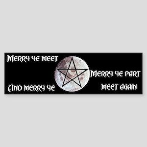 """""""Meet Agaiin"""" Bumper Sticker"""