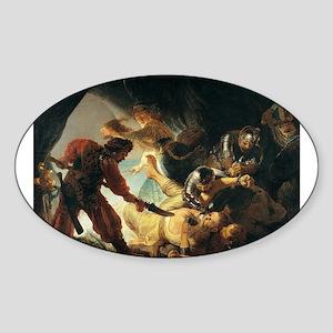 The Blinding of Samson - Rembrandt - c1636 Sticker