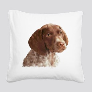 German Shorthair Pointer Pupp Square Canvas Pillow