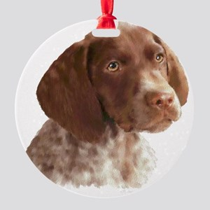 German Shorthair Pointer Puppy Round Ornament