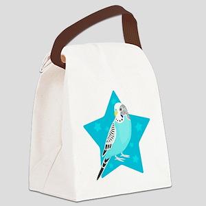 Sweet Bird Parakeet star Canvas Lunch Bag