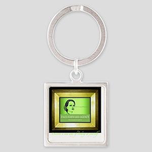 Face Forward Bold Square Keychain