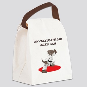 ChocolateKarateLabCP Canvas Lunch Bag