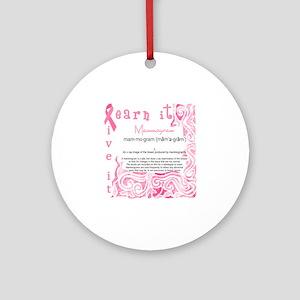 mammogram Round Ornament