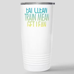 Eat Clean Train Mean Get Lean Stainless Steel Trav