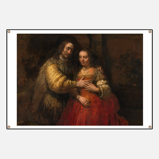 The Jewish bride - Rembrandt - c1665 Banner
