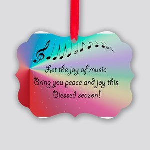 God Gave us Music  Picture Ornament