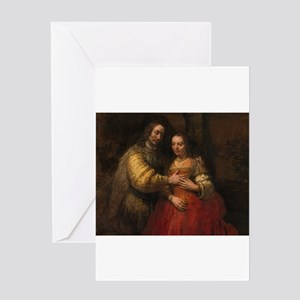 The Jewish bride - Rembrandt - c1665 Greeting Card