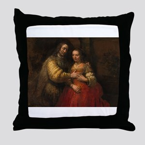The Jewish bride - Rembrandt - c1665 Throw Pillow