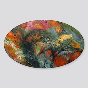 Laptop Monet Path Sticker (Oval)