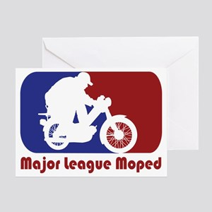 MopedLOGOredtext Greeting Card