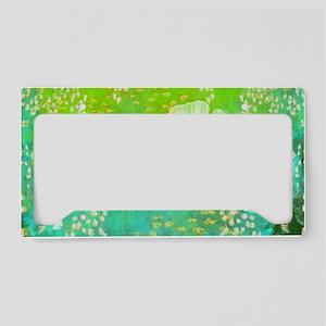 Green GInkgo tile_laptop License Plate Holder