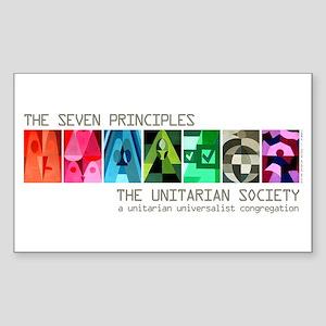 Rectangle Sticker - Seven UU Principles