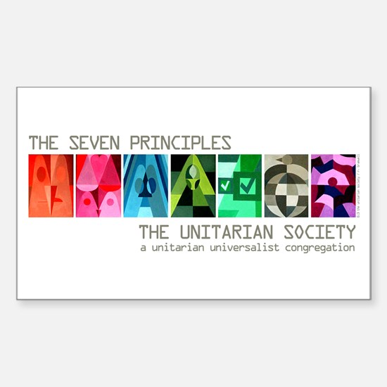 Rectangle Sticker - Seven UU Principles