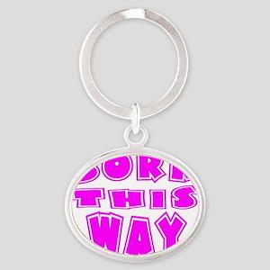 BORN Oval Keychain