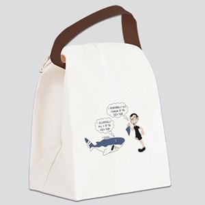 Real Victim - white text Canvas Lunch Bag