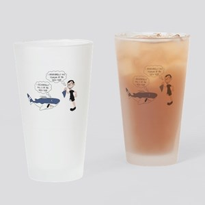 Real Victim - white text Drinking Glass