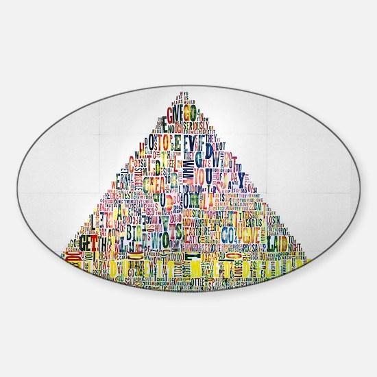 Tryckt-Out Sticker (Oval)