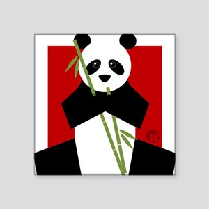 "panda Square Sticker 3"" x 3"""
