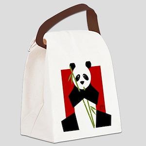 panda Canvas Lunch Bag