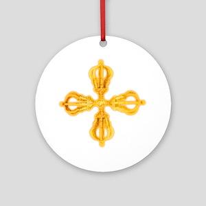 Double Dorje Round Ornament