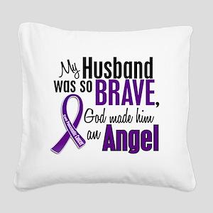 D Husband Square Canvas Pillow