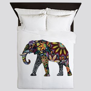 Colorful Elephant Queen Duvet