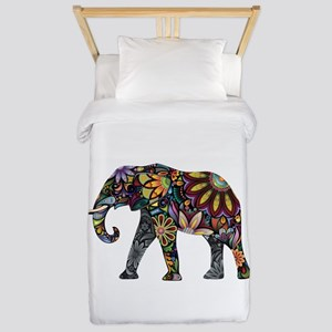 Colorful Elephant Twin Duvet